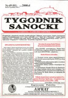 Tygodnik Sanocki, 1992, nr 49