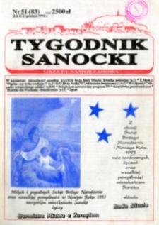 Tygodnik Sanocki, 1992, nr 51