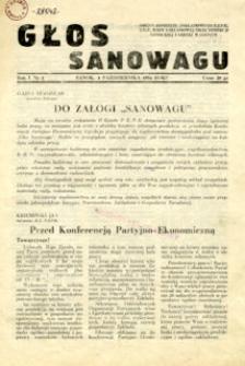 Głos Sanowagu, 1954, nr 1