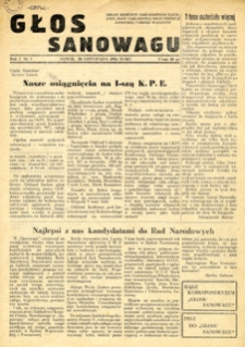 Głos Sanowagu, 1954, nr 3