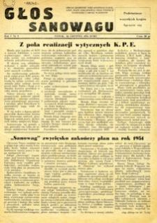 Głos Sanowagu, 1954, nr 5
