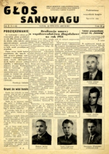 Głos Sanowagu, 1955, nr 1